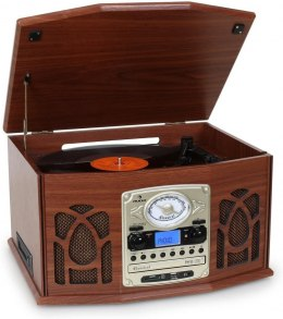 GRAMOFON AUNA 10007044 CD USB FM WOOD OKAZJA!