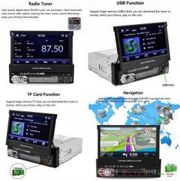 RADIO AUTORADIO 7'' RK-7158G BLUETOOTH USB GPS HIT
